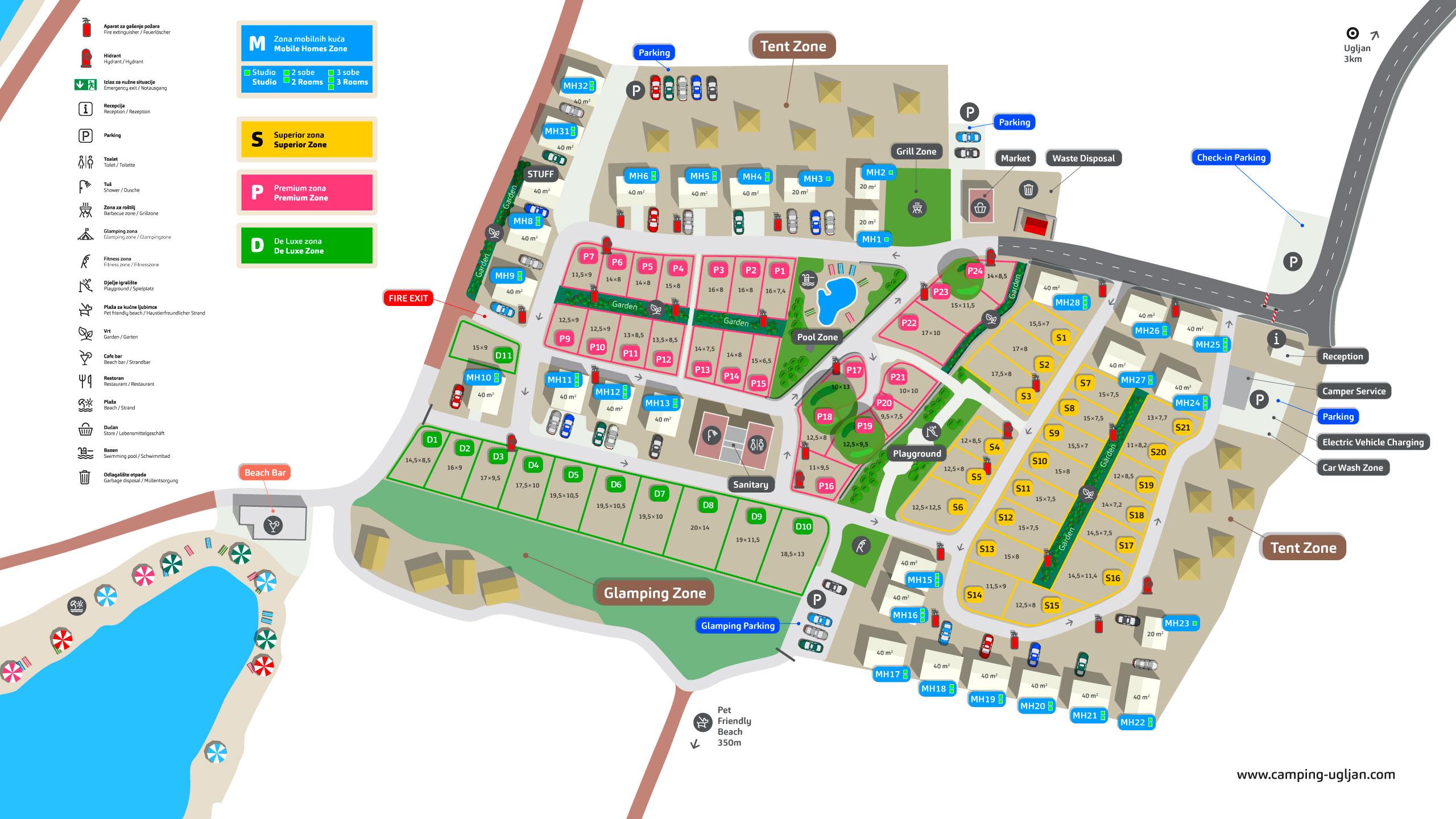 Karta Kampa Camping Ugljan Resort
